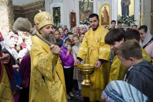 Божественная литургия и молебен перед началом учебного года в Кафедральном соборе Христа Спасителя