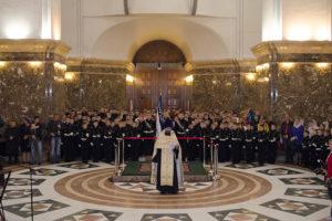 Молебен перед посвящением в кадеты