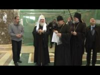 Патриарх Кирилл осмотрел новые росписи собора Христа Спасителя в Калининграде