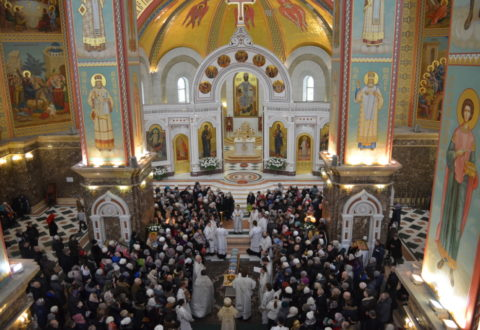 В Кафедральном соборе отметили праздник Крещения Господня