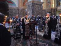 В Кафедральном соборе совершили утреню с чтением Великого канона преподобного Андрея Критского
