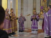 Архиепископ Серафим возглавил литургию в пятую Неделю Великого поста