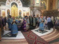 Архиепископ Серафим возглавил Всенощное бдение в канун Успения Пресвятой Богородицы