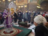 Архиепископ Серафим в Неделю 5-ю Великого поста совершил Божественную Литургию