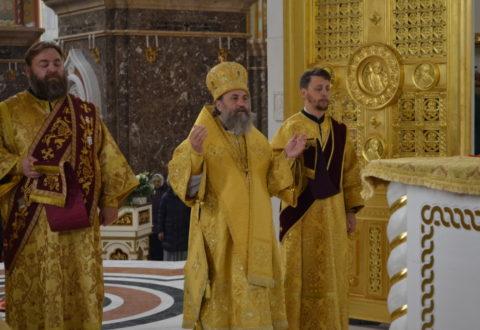 Архиепископ Серафим возглавил Божественную литургию недели 17-й по Пятидесятнице
