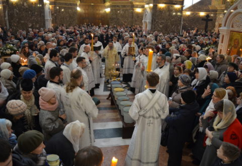 Архиепископ Серафим совершил богослужения праздника Крещения Господня