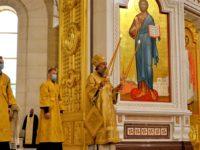 Архиепископ Серафим совершил Литургию в Неделю Всех святых, в земле Русской просиявших