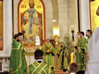 Архиепископ Серафим в День Святой Троицы совершил Божественную литургию