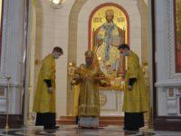 В Неделю сыропустную архиепископ Серафим совершил Литургию в Кафедральном соборе Христа Спасителя