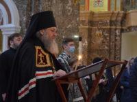Архиепископ Серафим совершил Великое повечерие с чтением канона Андрея Критского