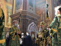 Праздник Входа Господня в Иерусалим в Кафедральном соборе Христа Спасителя