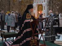 Архиепископ Серафим совершил утреню с чтением Великого канона преподобного Андрея Критского