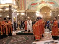 Пасхальная Великая вечерня в Кафедральном соборе Христа Спасителя